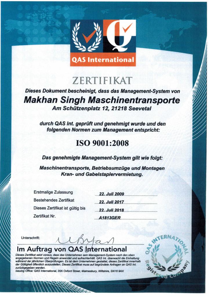 ZertifikateISO9001Singh1