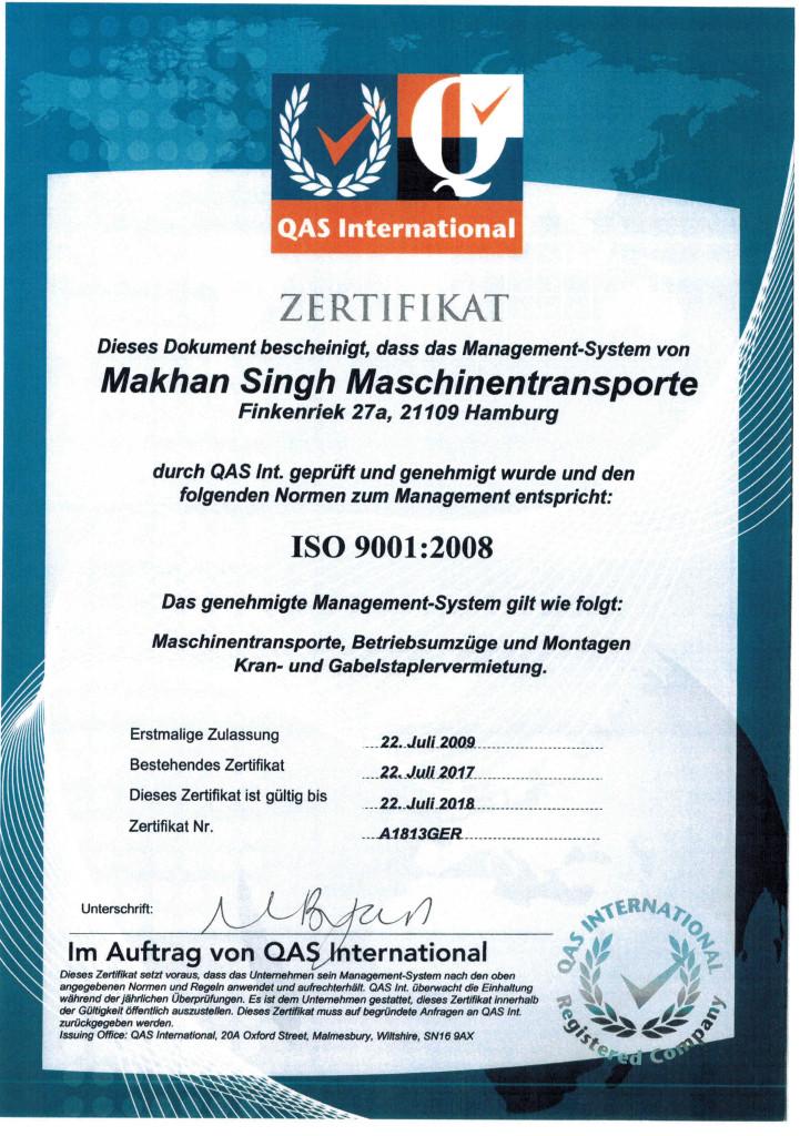 ZertifikateISO9001Singh2